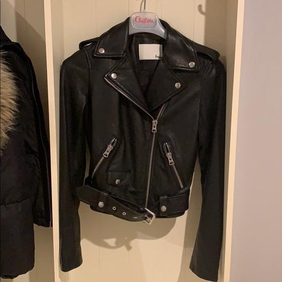6f9efcda6 Aritzia Wilfred Free Lennon leather biker jacket